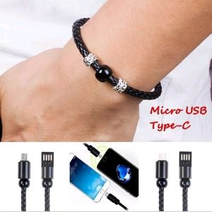 Very cool bracelet w android phone charger